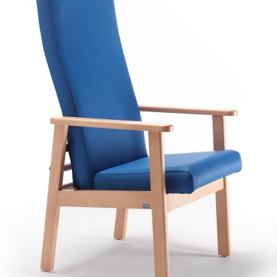 Lord high back bedside Chair