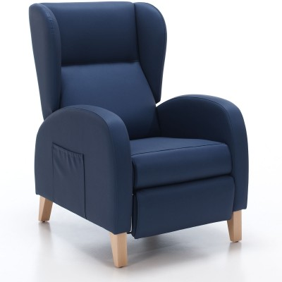 Coral high back recliner armchair